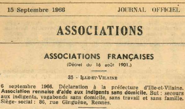 AIS 35 - Déclaration existence JO